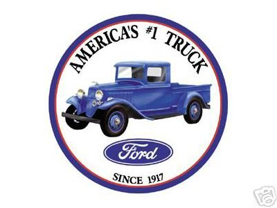 FORD TIN SIGN AMERICA'S #1 TRUCK