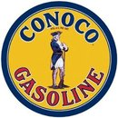 CONOCO GASOLINE ROUND SIGN METAL GAS OIL SIGNS C