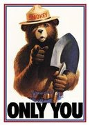 SMOKEY ONLY YOU TIN METAL SIGN