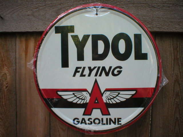 TYDOL OIL GASOLINE TIN SIGN
