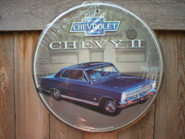 CHEVY ll TIN SIGN
