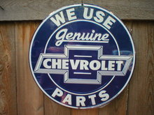 GENUINE CHEVROLET PARTS METAL SIGN