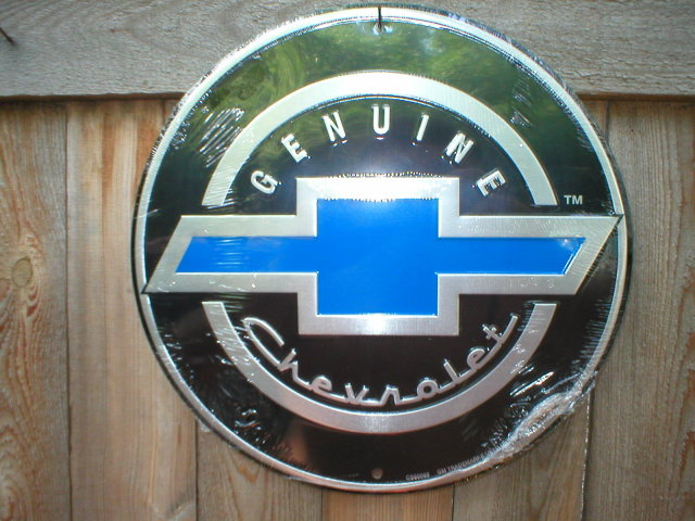 GENUINE CHEVROLET METAL SIGN