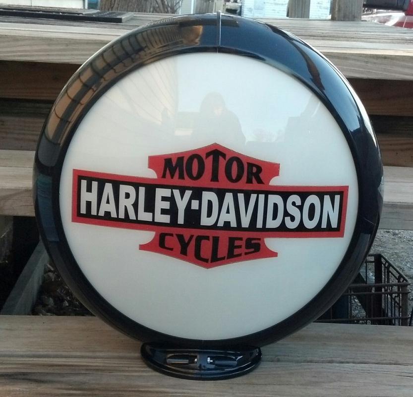 Harley Davidson Motorcycles Gas Pump Globe Top Decor