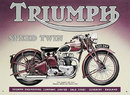 TRIUMPH SPEED TWIN TIN SIGN  BRITISH MOTORCYCLE SIGNS