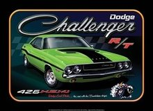 DODGE CHALLENGER MUSCLE CAR TIN SIGN