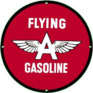 FLYING A GASOLINE PORCELAIN COATED SIGN