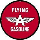 FLYING A GASOLINE PORCELAIN COATED SIGN