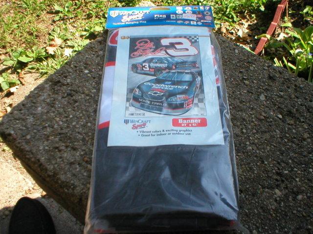 DALE EARNHARDT VERTICAL HANGING NASCAR FLAG E