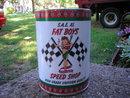 FAT BOY'S SPEED SHOP MOTOR OIL METAL CAN