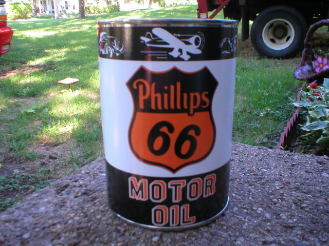 PHILLIPS 66  MOTOR OIL 32 FL. OZ. METAL CAN
