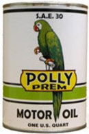 NEW POLLY MOTOR OIL METAL CAN