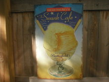 SWANK CAFE  DINER CAFE TIN METAL SIGN