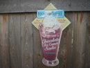 CHOCOLATE ICE CREAM DIECUT TIN METAL SIGN
