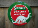 SINCLAIR OPALINE PORCELAIN-COATED SIGN METAL ADV SIGNS