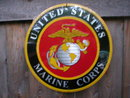 UNITED STATES MARINES TIN SIGN METAL ADV AD SIGNS M