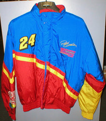 JEFF GORDON NYLON COAT SIZE MEDIUM NASCAR JACKET G