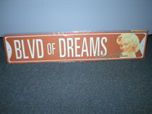 BLVD OF DREAMS SIGN METAL MOVIE STAR HOME BAR SIGNS B