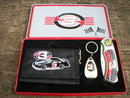 EARNHARDT SR BILLFOLD KNIFE KEYCHAIN IN COLLECTOR TIN E