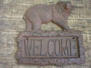 CAST IRON BEAR WELCOME SIGN HOME DECK DOOR DECOR SIGNS