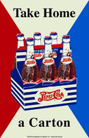 PEPSI TAKE HOME A CARTON TIN METAL SIGN