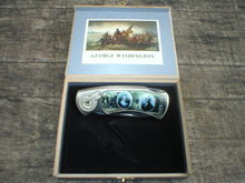 GEORGE WASHINGTON POCKET KNIFE IN COLLECTOR BOX W