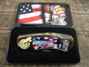 AMERICAN TRUCKER POCKET KNIFE COLLECTOR TIN BOX  T
