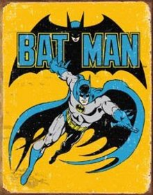 BAT MAN TIN METAL SIGN