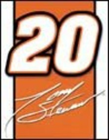 TONY STEWART #20 LOGO TIN SIGN METAL ADV SIGNS T