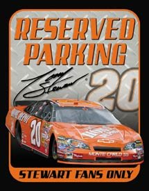 TONY STEWART RESERVED PARKING TIN SIGN METAL ADV SIGNS