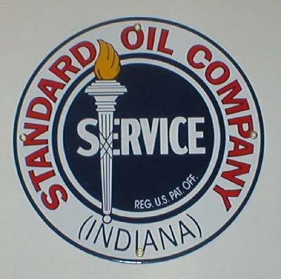 STANDARD OIL SERVCE SIGN GAS OIL PORCELAIN SIGNS