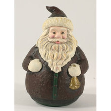 CAST IRON BROWN SANTA UNIQUE CHRISTMAS GIFT S