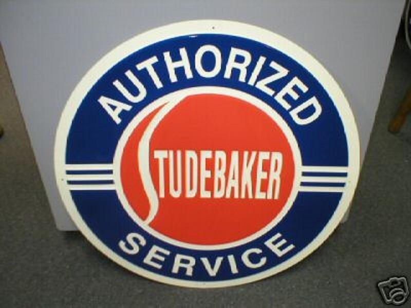 Studebaker Authorized Service Metal Sign 24 Inch Diameter