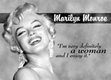 MARILYN MONROE WOMAN METAL TIN SIGN