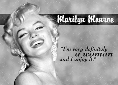 MARILYN MONROE WOMAN METAL TIN SIGN
