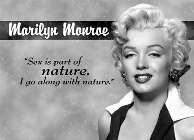 MARILYN MONROE SEX NATURE TIN SIGN