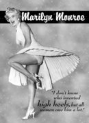 MARILYN MONROE HIGH HEELS TIN SIGN