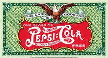 PEPSI-COLA COUPON TIN METAL SIGN