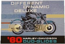 60 HARLEY DAVIDSON DUO GLIDES TIN SIGN METAL SIGN