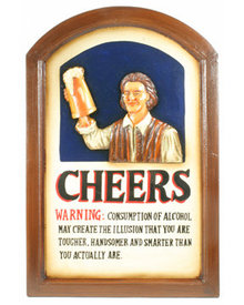CHEERS WOODEN SIGN DECORATIVE WALL DECOR C
