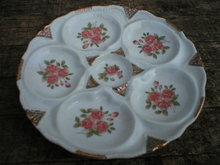 PORCELAIN OYSTER PLATE MARKED LIMOGES