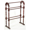 MAHOGANY QUILT RACK WOOD DISPLAY STAND