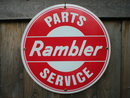 RAMBLER PARTS SERVICE PORCELAIN SIGN