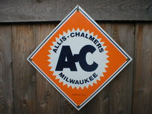 ALLIS-CHALMERS PORCELAIN-COATED SIGN