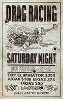 DRAG RACING SATURDAY NIGHT METAL SIGN