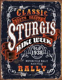 STURGIS CLASSIC RALLY METAL TIN SIGN
