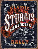 STURGIS CLASSIC RALLY METAL TIN SIGN