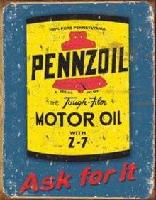 PENNZOIL MOTOR OIL TIN SIGN