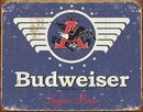 BUDWEISER 1936 LOGO METAL TIN SIGN