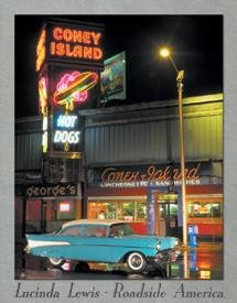 CONEY ISLAND 57 CHEVY METAL TIN SIGN